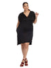 Modern Sheath Dress In Black