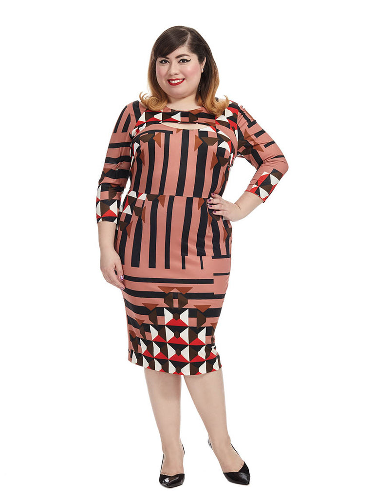 Geo-illusion Cut Out Dress