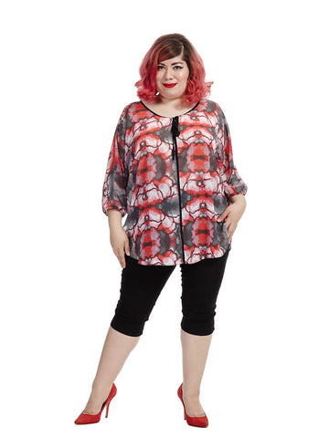 Hancouver Top In Carmine Multi