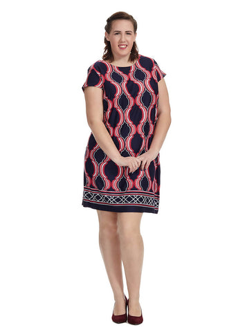 Cap Sleeve Keyhole Pattern Dress