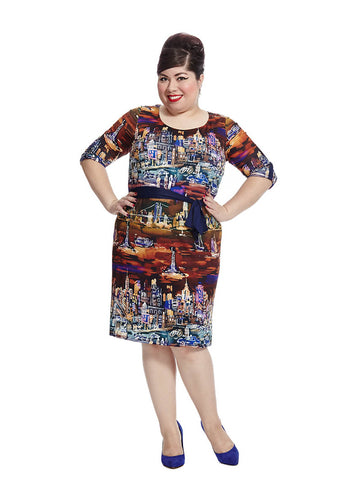 Nyc Belted Shift Dress