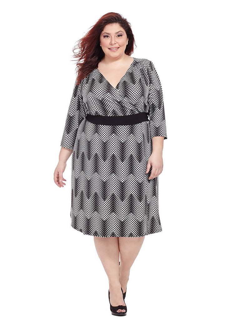 Dominique Dress In Black & Taupe