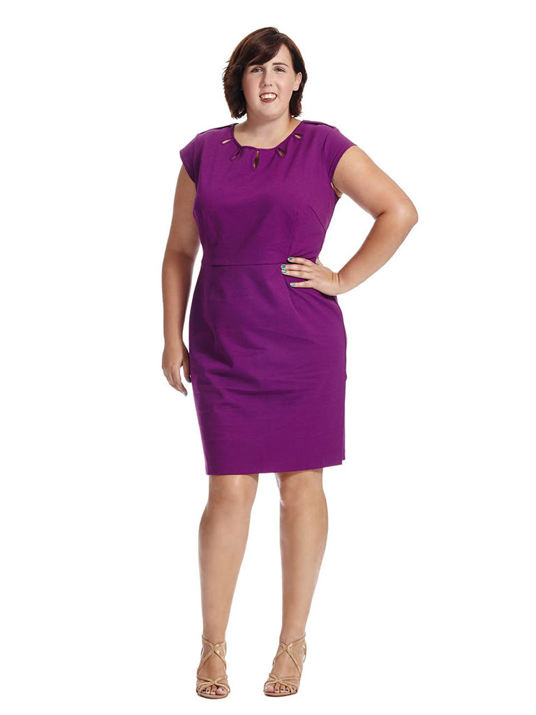 Keyhole Dress In Tyrian Purple