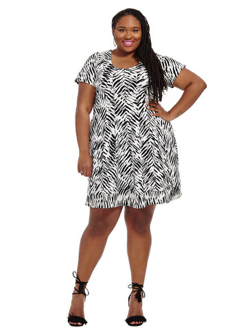 Dress In Abstract Chevron
