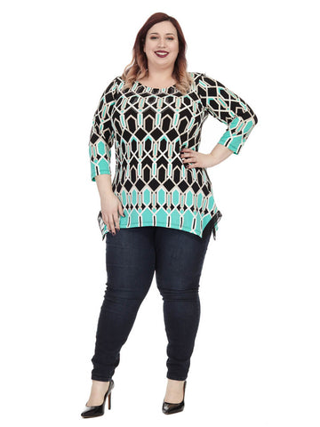 Hightail Geo Print Top