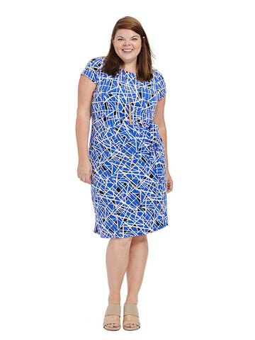 Madison Dress In Cobalt Glass