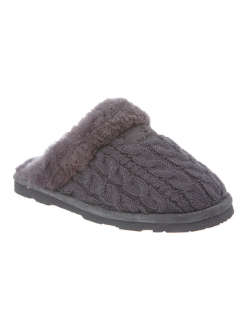 Effie Slipper In Charcoal