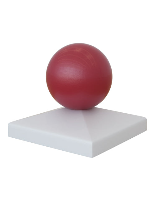 Red Ball Post Topper