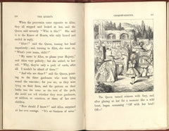 Spread from 1865 edition of Alice's Adventures in Wonderland