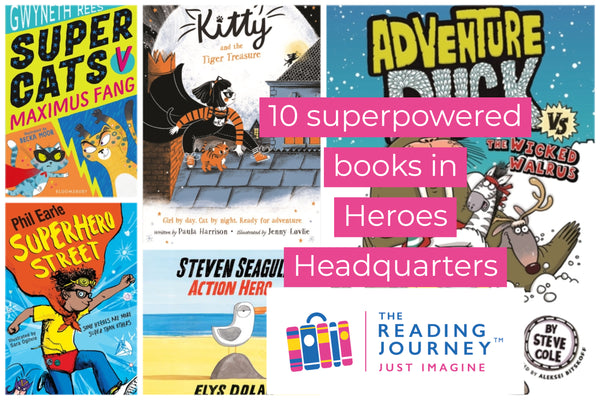 The Reading Journey: Heroes and Superheroes (Heroes Headquarters) Years 3 & 4 - Single copies/10 Books