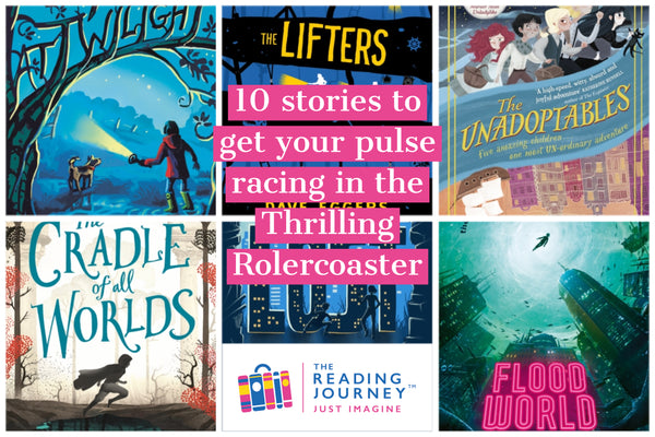 The Reading Journey: Thrilling Fiction (The Thrilling Rollercoaster) Years 5 & 6 - Single copies/10 Books