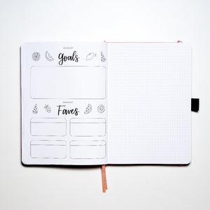 Example of August Goals Page