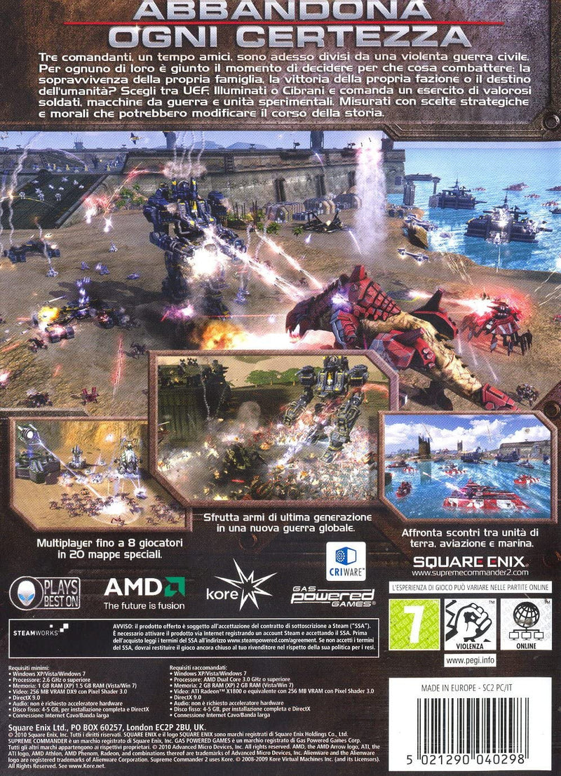 SUPREME COMMANDER 2 PC EDIZIONE ITALIANA