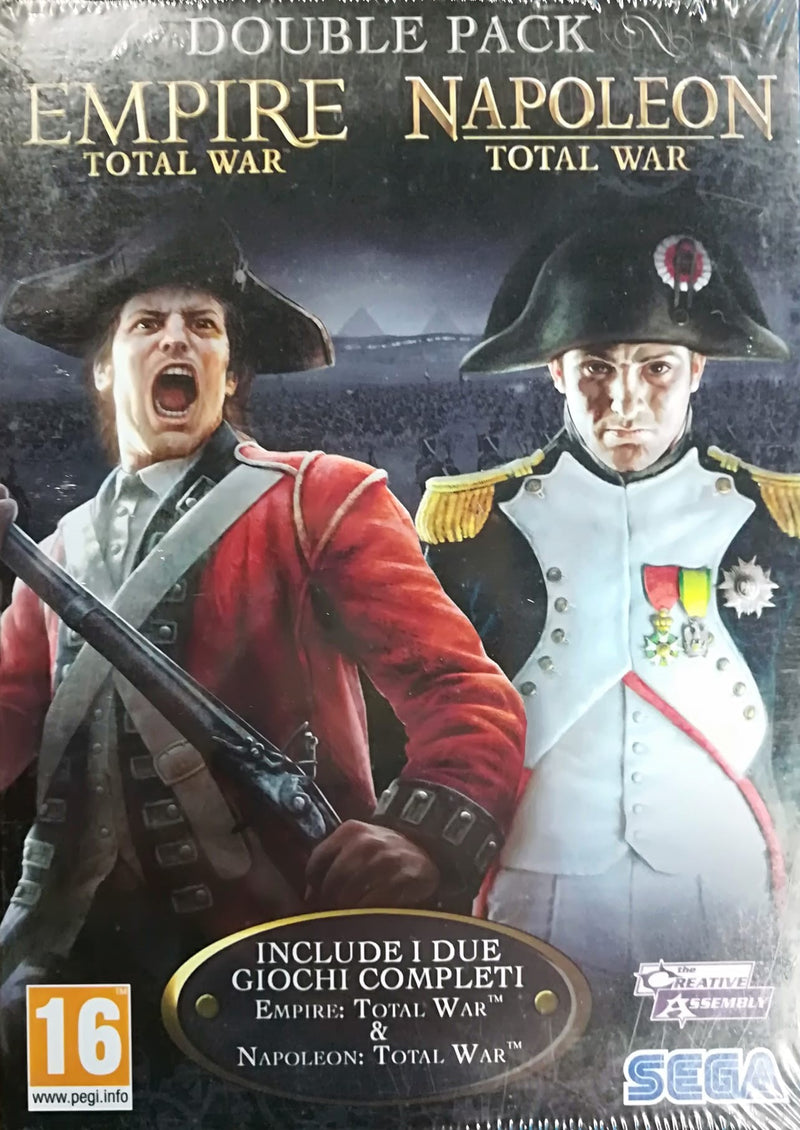 EMPIRE TOTAL WAR + NAPOLEON TOTAL WAR DOUBLE PACK PC EDIZIONE ITALIANA (4596931756086)