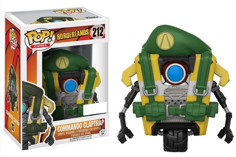 POP! FUNKO 212 COMMANDO CLAPTRAP BORDERLANDS