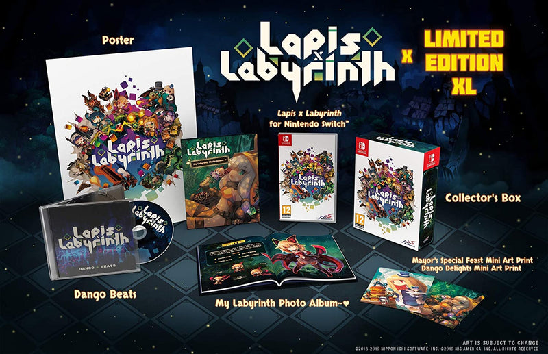LAPIS X LABYRINTH LIMITED EDITION XL NINTENDO SWITCH EDIZIONE REGNO UNITO (4534961111094)