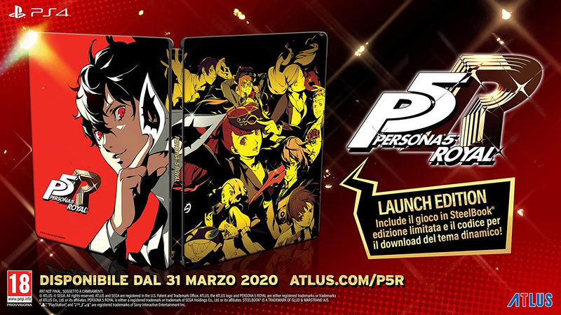 PERSONA 5 ROYAL STEELBOOK EDITION PLAYSTATION 4 EDIZIONE ITALIANA (4555689001014)