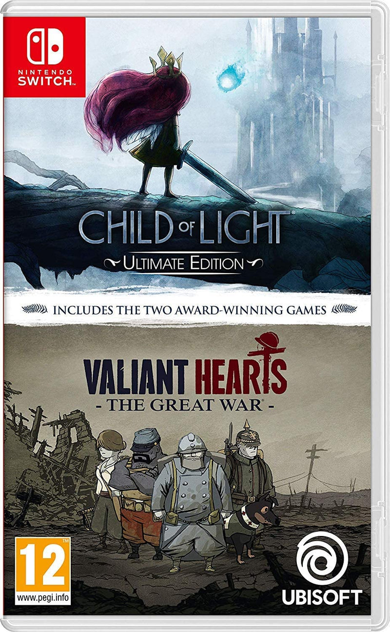 CHILD OF LIGHT ULTIMATE EDITION + VALIANT HEARTS THE GREAT WAR NINTENDO SWITCH
