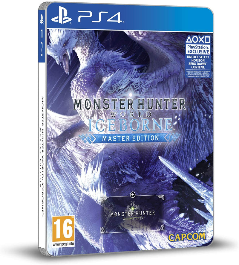 MONSTER HUNTER WORLD: ICEBORNE MASTER EDITION STEELBOOK PLAYSTATION 4 EDIZIONE REGNO UNITO
