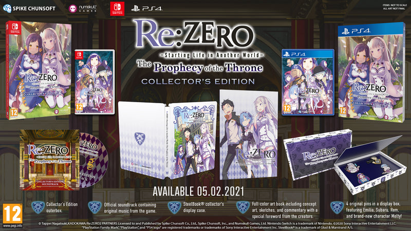 Re:ZERO − Starting Life in Another World The Throne Of Prophecy Collector's Edition Playstation 4 (4636822437942)