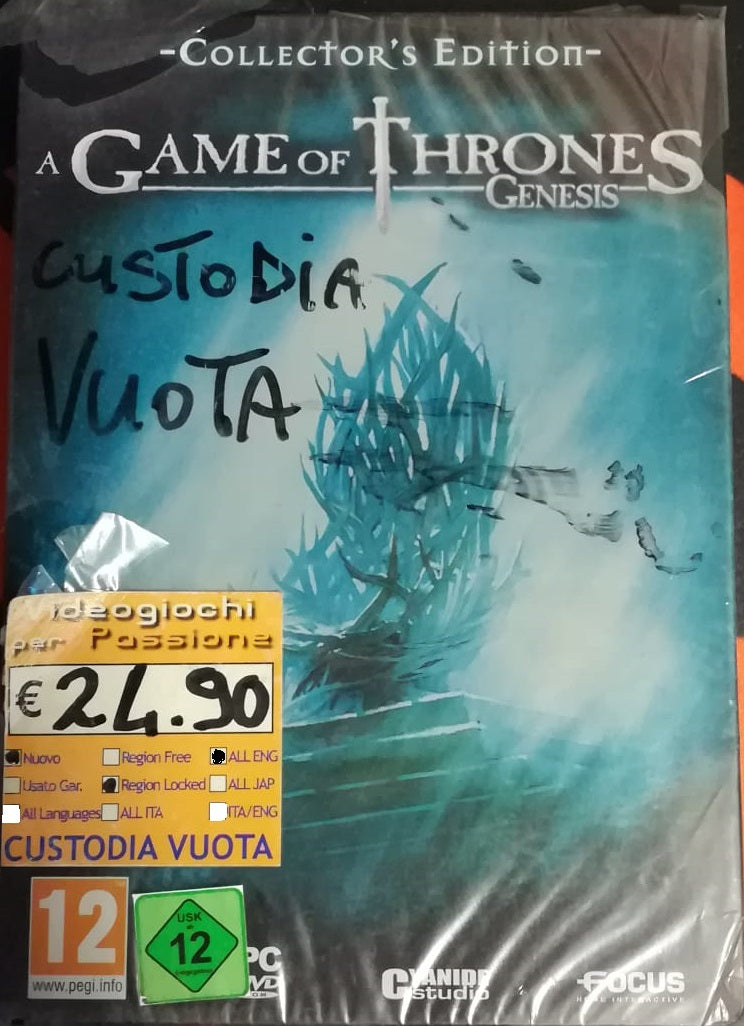 A GAME OF THRONES GENESIS COLLECTOR'S EDITION PC GAMES EDIZIONE INGLESE