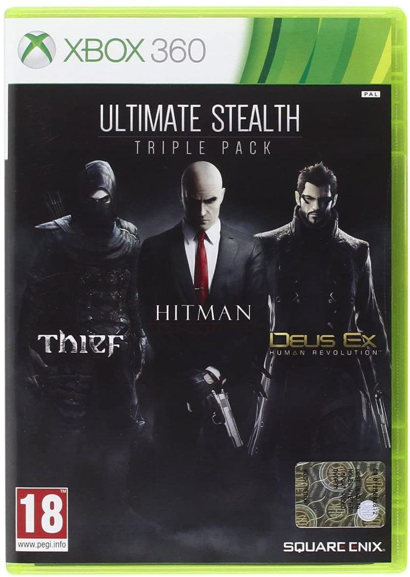 ULTIMATE STEALTH TRIPLE PACK-THIF-HITMAN-DEUS EX human revlution-xbox 360