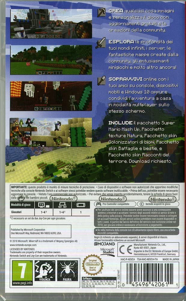 MINECRAFT NINTENDO SWITCH (versione italiana) (6546724290614)