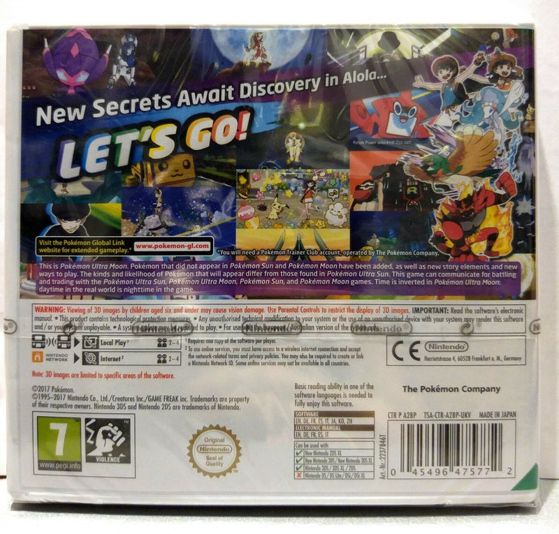 POKEMON ULTRA MOON NINTENDO 3DS (versione inglese)