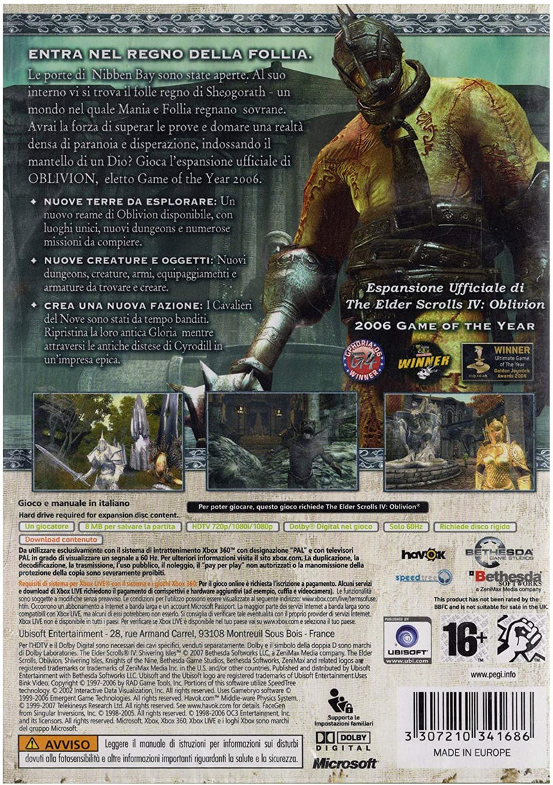 THE ELDER SCROLLS IV : SHIVERING ISLES XBOX 360 (versione italiana)