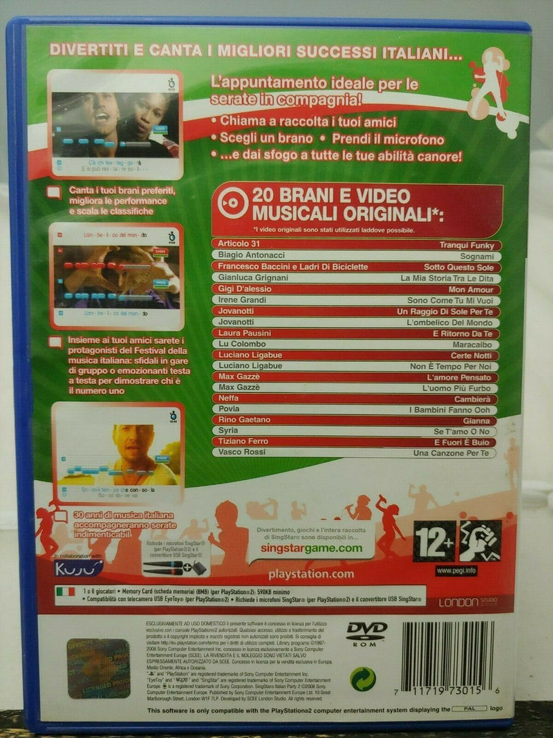 SINGSTAR ITALIAN PARTY 2 PS2 (4596413923382)