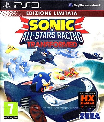 SONIC ALL STARS RACING TRANSFORMED PLAYSTATION 3 EDIZIONE ITALIANA