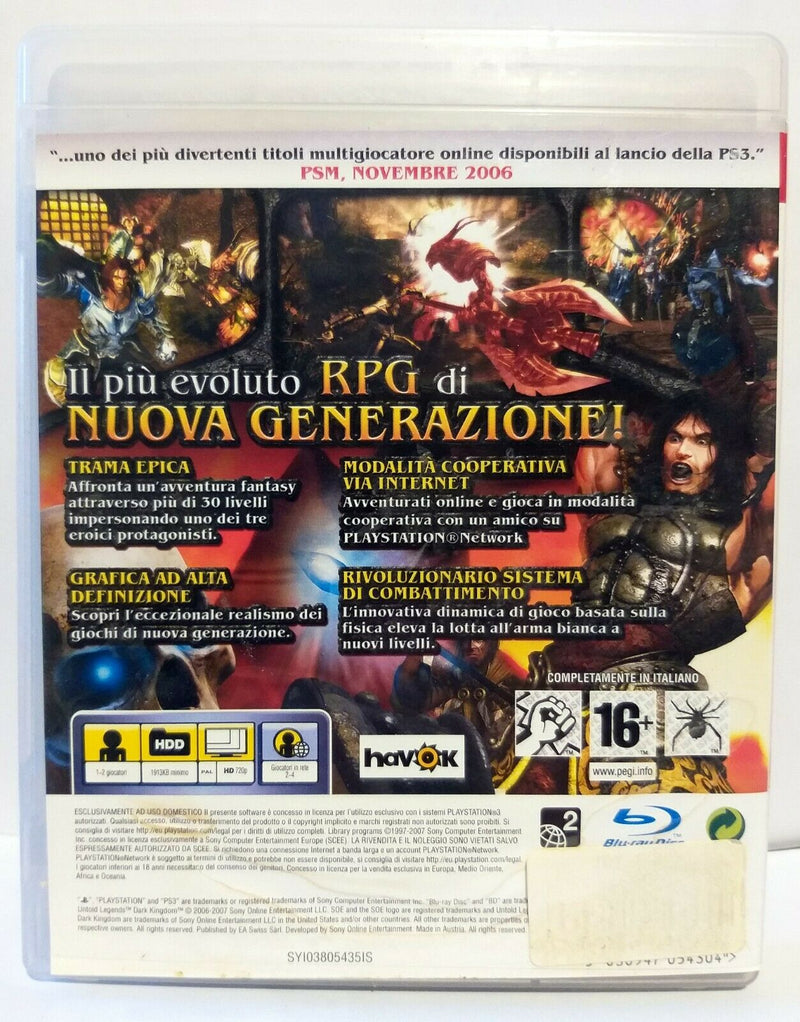 UNTOLD LEGENDS DARK KINGDOM PS3 (completamente in italiano)