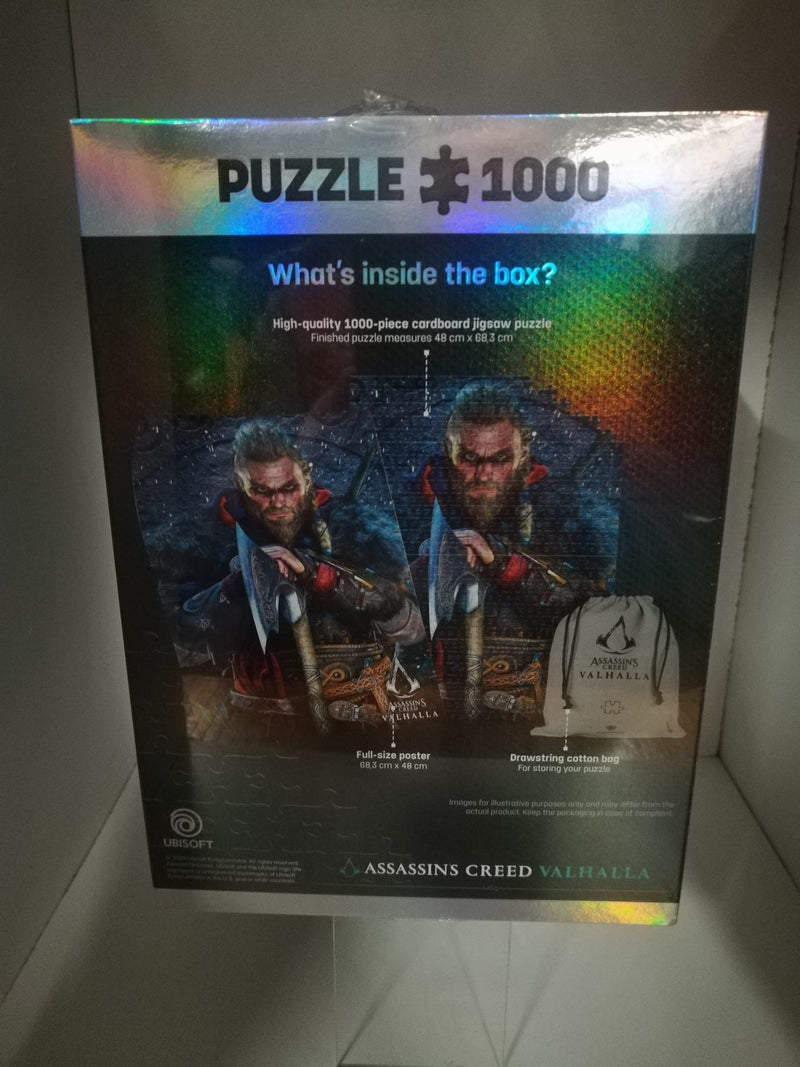 PUZZLE 1000 P.- ASSASSIN'S CREED VALHALLA +POSTER+BEG COTTONE