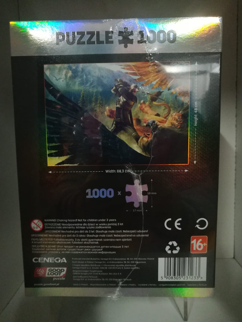 PUZZLE 1000 P. - THE WITCHER + POSTER+BEG COTTONE