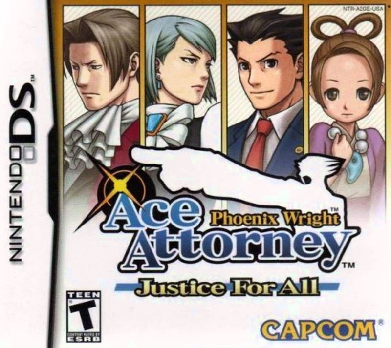 PHOENIX WRIGHT ACE ATTORNEY JUSTICE FOR ALL NINTENDO DS EDIZIONE AMERICANA (4576566050870)