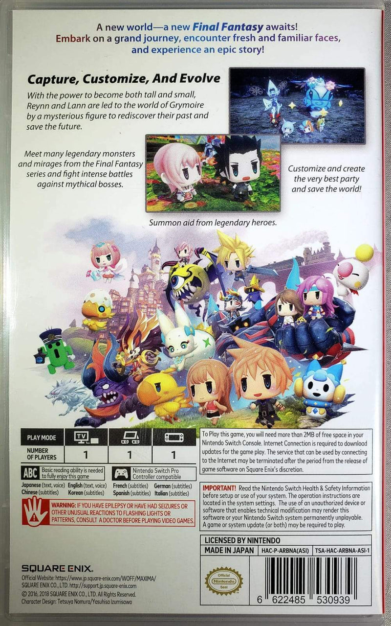 WORLD OF FINAL FANTASY MAXIMA NINTENDO SWITCH EDIZIONE REGNO UNITO