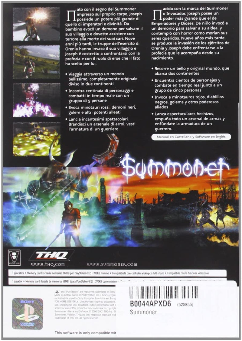 SUMMONER PLAYSTATION 2 EDIZIONE ITALIANA