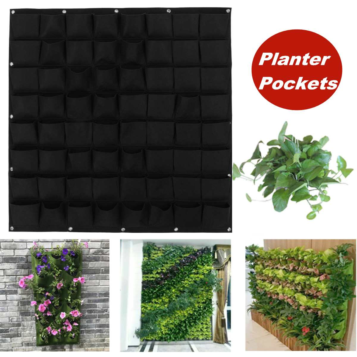 Multi Pocket wall-mounted Planting Bags