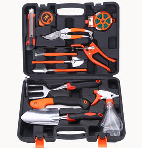 12 Piece Aluminum Hand Tool Kit, Garden Canvas Apron