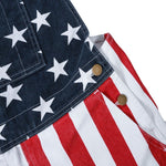 Load image into Gallery viewer, American flag overalls shorts