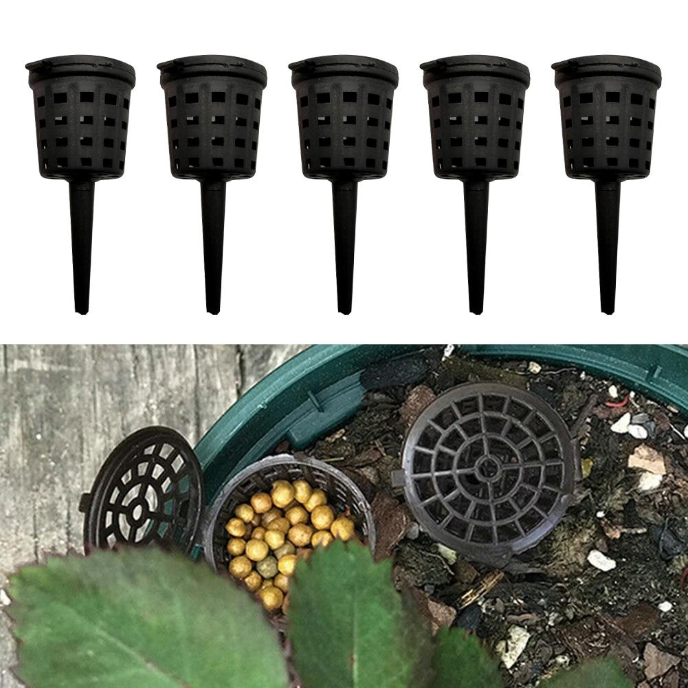 100 Pcs/pack Park Agriculture Orchid Portable Cultivate Nursery Pots Slow Release Fertilizer Baskets With Lid Plant Aquarium - SaturnLoop Shops Sales