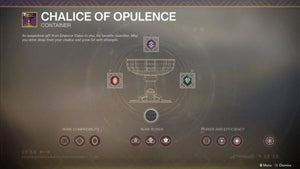 Destiny 2 Boost Max Chalice of Opulence