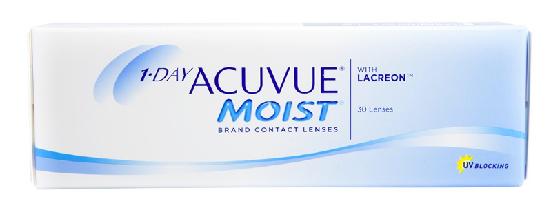 1 Day Acuvue Moist Contact Lenses 30-Pack - Perspective Optometry Vancouver