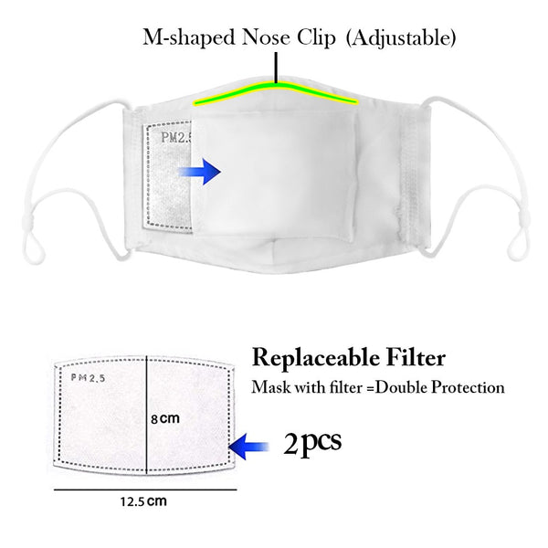 Reusable Cloth Face Mask with Filter