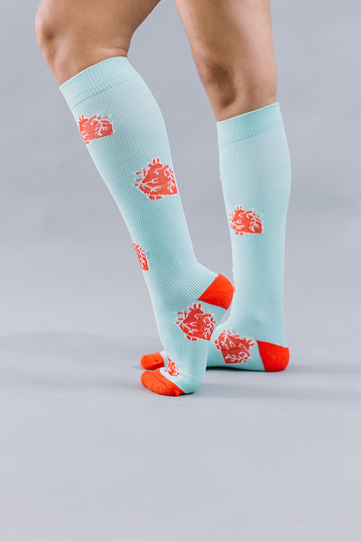 Anatomical Heart Compression Socks
