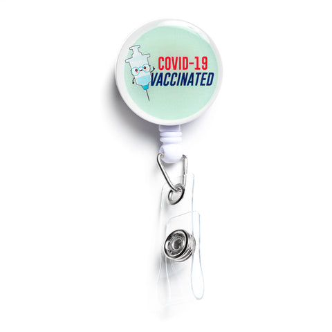 Covid Vaccinated Badge Holder 2 | Vaccine ID Badge Holder