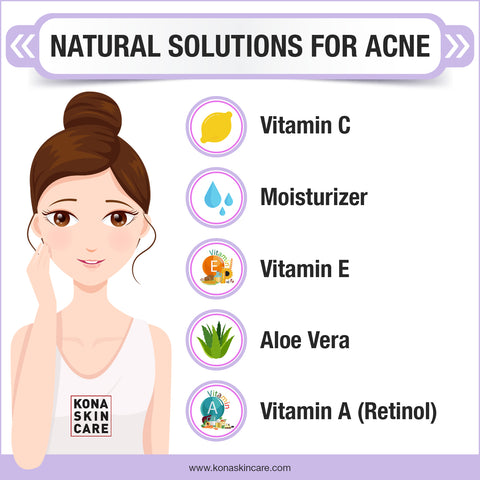 Natural solutions for acne and dark spots