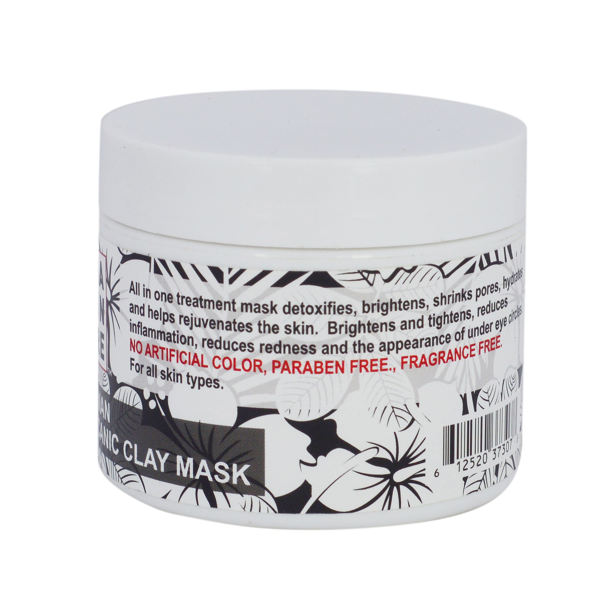 Hawaiian Volcanic Clay Mask clean dry face