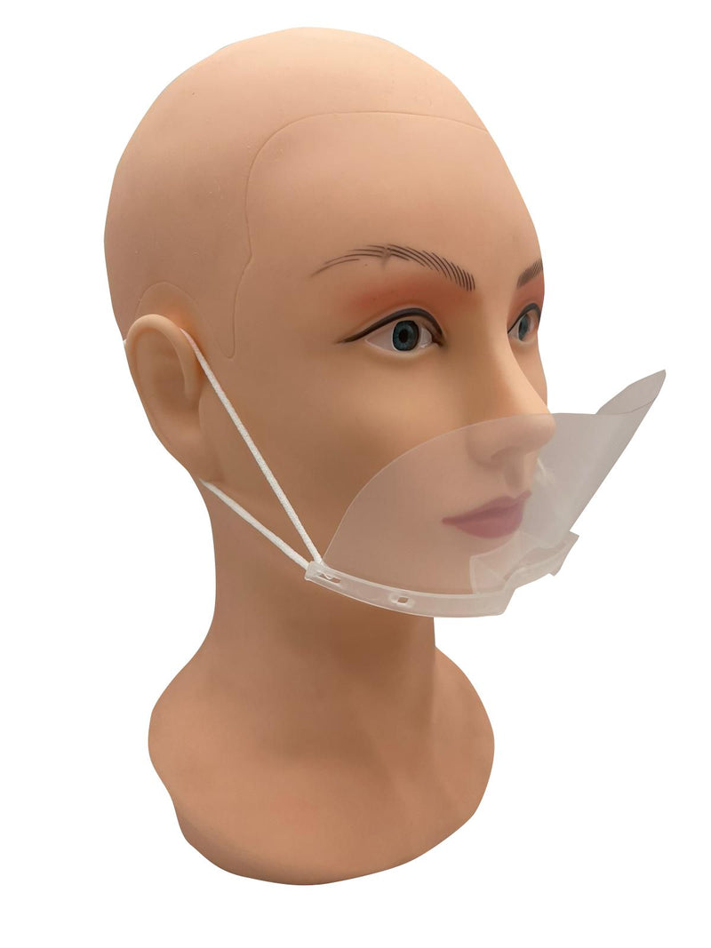 FACE SHIELD MOUTH COVER CLEAR GUARD - DISPOSABLE RESTAURANT SERVANT ANTI FOG