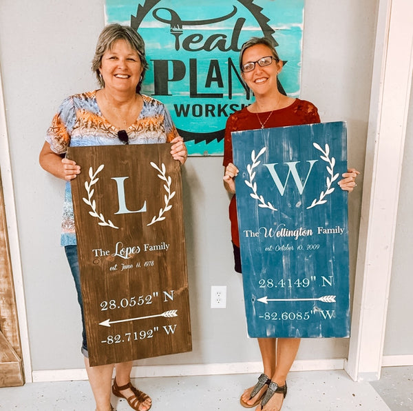 Large Plank Sign [Teal Plank To-Go]